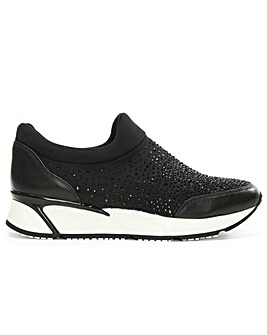 Daniel Black Diamante Slip On Trainer