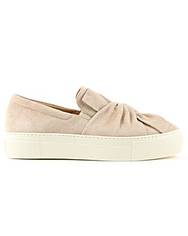 Daniel Suede Knotted Slip On Trainer