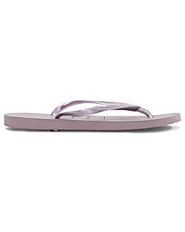 Havaianas Slim Purple Toe Post Flip Flop