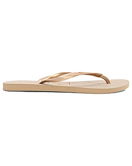 Havaianas Slim Bronze Toe Post Flip Flop