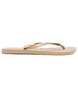 Havaianas Slim Bronze Toe Post Flip Flop