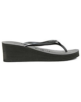 Havianas Black Wedge Toe Post Flip Flop