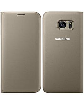 Samsung Gal S7Edge FlipWallet Cover�Gld