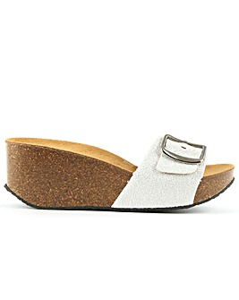 Daniel Roswell Open Toe Mid Wedge Mule
