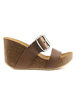 Daniel Paterinia Two Bar Wedge Sandal