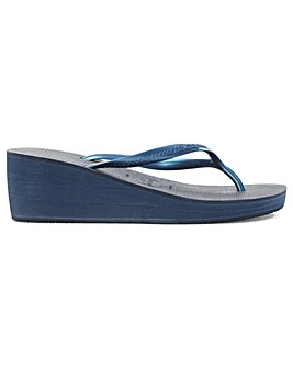 Havianas Navy Wedge Toe Post Flip Flop