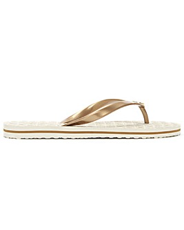 Michael Kors Logo Toe Post Flip Flop