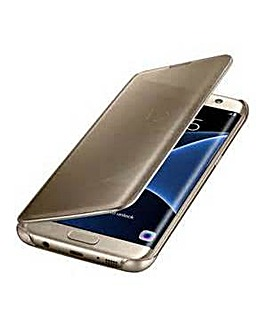 Samsung Gal S7Edge Clear View Cover Gld
