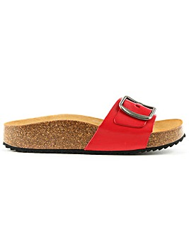 Daniel Saxton Red Leather Mule Sandal