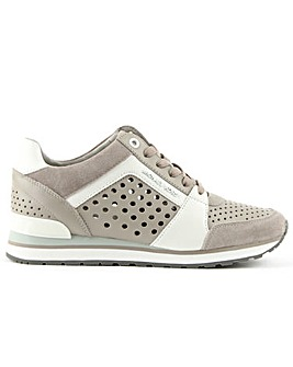 Michael Kors Suede Perforated Trainer