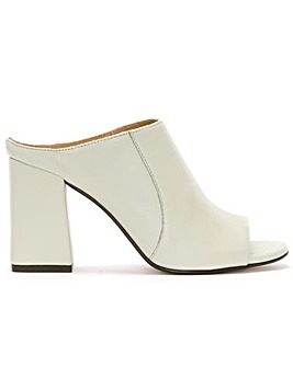 Daniel Pammy Leather Block Heel Mule