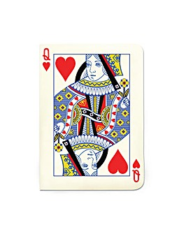 Queen of Hearts A6 Notebook