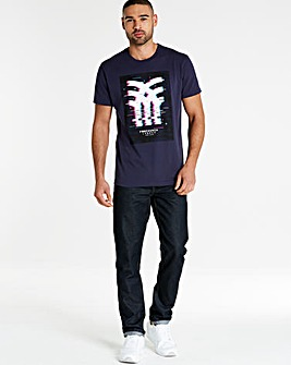 Fenchurch Glitch Print T-Shirt Long