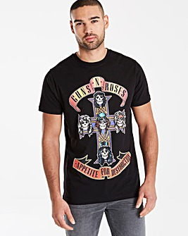 Guns N Roses Black T-Shirt Long