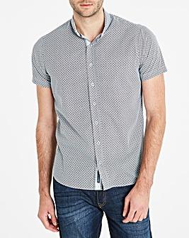 Bewley & Ritch White/Navy S/S Shirt R