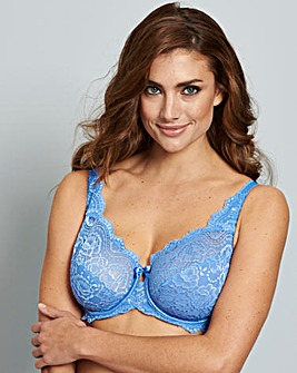 Playtex Flower Lace Wired Blue Bra