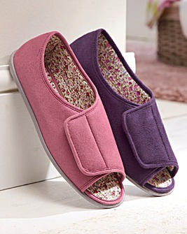 Easy Close Open-Toe Slippers