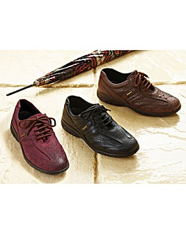Waterproof Lace Up Shoe Leather