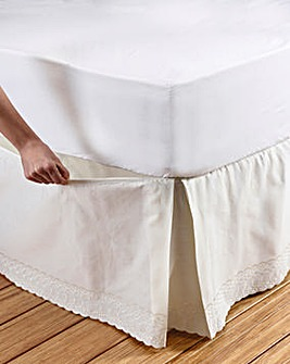 Broderie Anglaise Box Pleat Valance