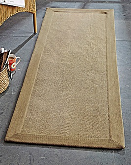 Jute Rug with Cotton Border 2ft Wide