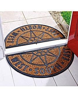 2 Piece Compass Doormat