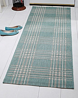 Flatweave Checked Runner