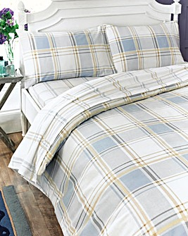 Check Flannelette Duvet Cover Set