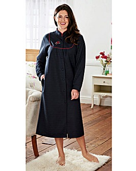 Quilted Yoke Neck Dressing Gown