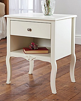 Angelica 1 Drawer Bedside Table