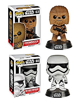 POP! Figure 2pk-Chewbacca & Stormtrooper