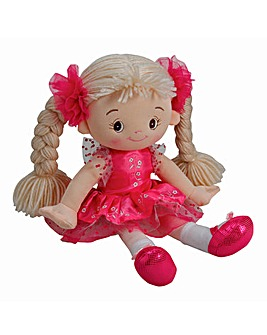 32cm Rag Doll Light Pink