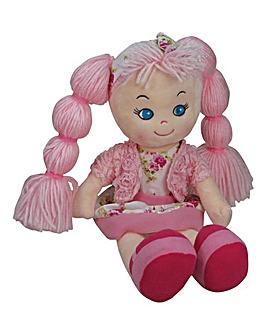 32cm Rag Doll Light Pink