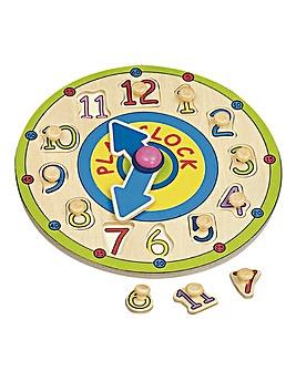 Wooden Clock Peg Puzzle
