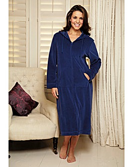 Pretty Secrets Velour Zip Gown 42 inch