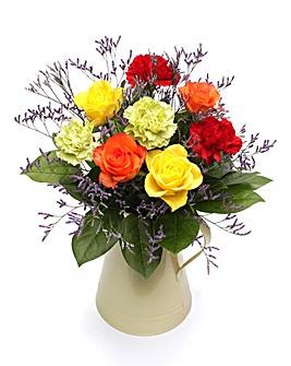 Enamel Jug Bouquet