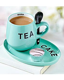 Tea & Cake Mug & Plate Set