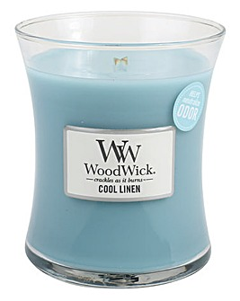 WoodWick Cool Linen Medium Jar Candle