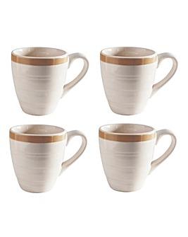 Mason Cash Original Cane Set 4 Mugs