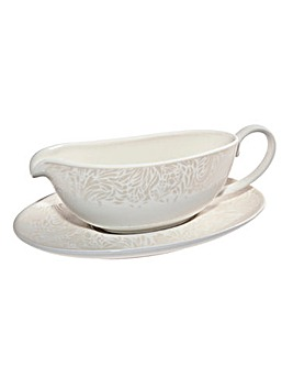Monsoon Lucille Gold Sauce Jug & Stand