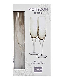 Monsoon Lucille Gold Champagne Flutes