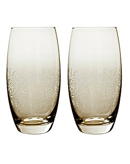 Monsoon Lucille Gold Large Tumbler 2 Pk