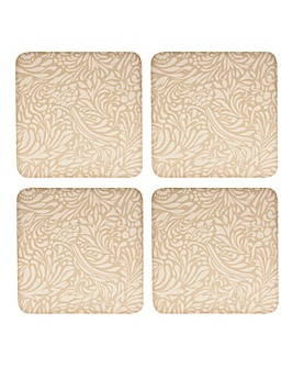 Monsoon Lucille Gold 4 X Coasters