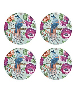 Monsoon Kyoto Blue Round Coasters X4