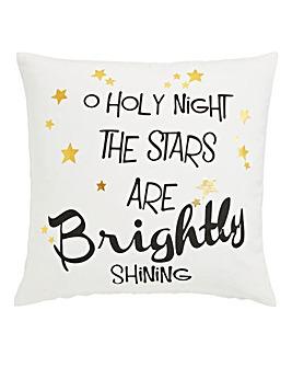 O Holy Night printed cushion