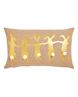 Dancing Rabbits Printed cushion