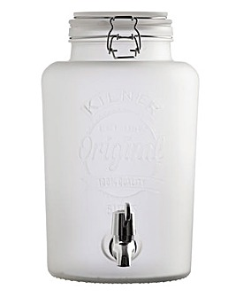 Kilner Frosted Drinks Dispenser Clear