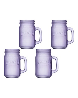 Kilner Frosted 400ml Handled Jar Purple