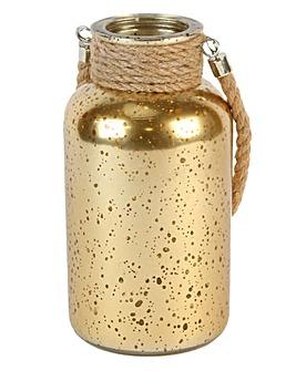 Gold Tall Mercury Hurricane Jar