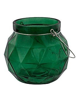 Amazonia Green Glass Candle Holder