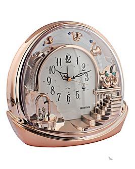 Rhythm Alarm Mantel Clock with Pendulum